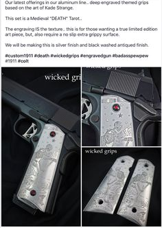 Firearms, Hand Guns, Tarot, Medieval, Wicked, Art Pieces, Pistols, Weapons, Artworks