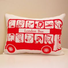 Special offer! London Bus Organic Children's Cushion Cover £22.00