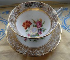 Vintage Fine Bone China Tea Cup and Saucer by by PrettyVintageHome