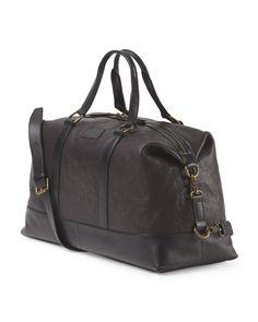 164db7421a4b Leather Milano Duffel - Gifts For Men - T.J.Maxx
