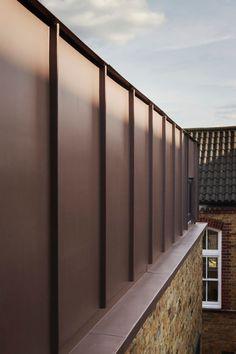 Zinc Cladding at Classroom extension by Studio Webb Architects - Hotels Design Architecture Zinc Cladding, Cladding Design, External Cladding, House Cladding, Facade Design, Exterior Design, House Design, Cladding Ideas, Zinc Roof