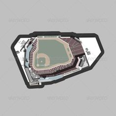 Baseball Stadium  #GraphicRiver         Detailed vector illustration of a baseball field and stadium surrounding it. This illustration includes shadows, shading, and is colored with hues that are desaturated. Stadium lights, seating, and other elements make this a complete composition.     Created: 2August13 GraphicsFilesIncluded: JPGImage #VectorEPS #AIIllustrator Layered: No MinimumAdobeCSVersion: CS Tags: ballpark #baseball #baseballfield #bases #blueroof #border #city #desaturated #dirt…