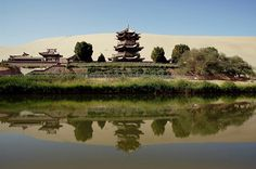 For thousands of years pilgrims and traders on the Silk Road to the West have used the Crescent Lake oasis as a last stop off before they fa...
