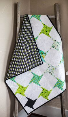 Modern Handmade Baby Quilt for Sale by TheQuirkyQuiltr on Etsy