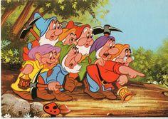 Palphot Walt Disney Postcard 3372 Seven Dwarves Israel