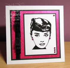 My Crafty Life: Simply Stylish  handmade card, Audrey Hepburn, CAS, Clean and Simple
