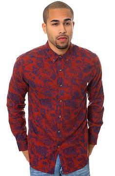 Obey Buttondown Westley Red - Karmaloop.com 78$