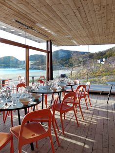 Tour the Space: A Modern House on the Shores of Norway Bar Interior, Restaurant Interior Design, Norway Design, Hospitality Design, Blog Design, Outdoor Furniture, Outdoor Decor, Surf, Restaurants