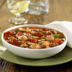 Sopa de Carne de Res y Vegetales Estilo Italiano