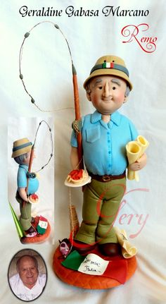 *SORRY, no information as to product used ~ postura y panza, detalles camisa  porcelana fria polymer clay