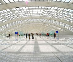 The Beijing International Airport; opened in time for the 2008 Olympics, the vast Terminal 3 (two miles long and one of the largest buildings in the world) is supposed to represent a dragon.