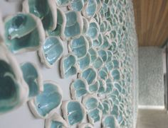 Flock    Ceramic installation at the University of Westminster, Marylebone Campus.    Anne Jamison, Debbie Metherell, John Butler, Jonna Behrens.