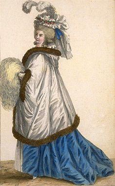 French Fashion (Dec 1785) - Cabinet Des Modes ou Les Modes Nouvelles. (French 18th Century Fashion Plate)