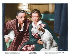 William Powell, Myrna Loy, and Skippy (aka Asta) for The Thin Man (1934). So classic.