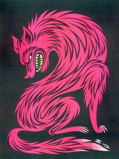 Pink Wolf by Martinhead!, via Flickr