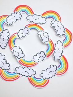 Rainbow Snowflake Cu