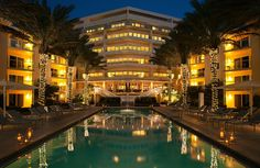 Beautiful Pool Area at Night | Edgewater Beach Hotel | Naples, Florida