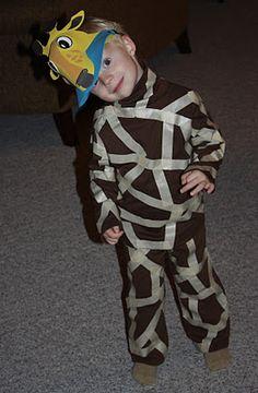 Homemade Giraffe Costume if yellow clothing isn't to be found