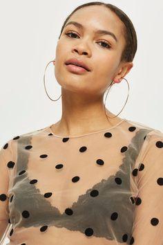 Spotted Mesh Top