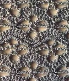 """crochet stitch №170 - with diagram  (If you copy the URL and paste it into a google search, it should turn up as the first result with a link available that says """"Translate this page"""". If you click the link, THIS page gets translated! Yes!) #crochetstitches"""