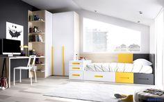 F_57 Habitaciones juveniles, capaces de adaptarse a cualquier espacio. Diseña, crea y realiza tus sueños con System QB de Rimobel