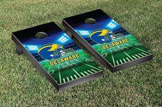 Delaware Fightin' Blue Hens Team Stadium Cornhole Set