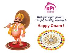 K.P. Jewellery & Gems wishes you a very Prosperous, Colorful, Healthy, Wealthy and a Happy #Onam.