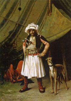 Jean-Léon Gérôme: An Albanian and his Dog (Arnaoute et son chien), also known as A Bashi-Bazouk and his Dog, 1865. private collection.