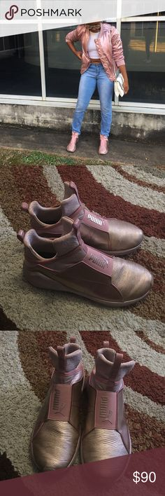 Kylie Jenner pumas Rose gold Kylie Jenner pumas, worn once Puma Shoes Sneakers