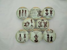 Set Of 8 French Dress Form Oversized Cabinet Knobs
