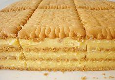 Prajitura cu biscuiti si crema de vanilie este un desert senzational ce se prepara foarte usor. Puteti folosi budinca de ciocolata in loc de cea de vanilie, de asemenea puteti folosi ciocolata dark sau cu lapte, in loc de cea alba, rezultatul final va fi la fel de gustos si apetisant.