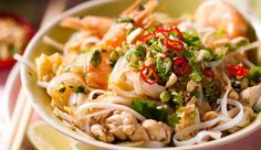 Classic Pad Thai #recipe. Add chopped chilli for extra heat.