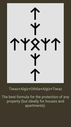 Protection of the house – Norse Mythology-Vikings-Tattoo Protection Symbols, Rune Symbols, Alphabet Symbols, Magic Symbols, Symbols And Meanings, Viking Symbols, Ancient Symbols, Egyptian Symbols, Viking Protection Rune