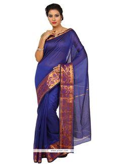 Riveting Art Silk Blue Designer Traditional Sarees Model: YOSAR8936