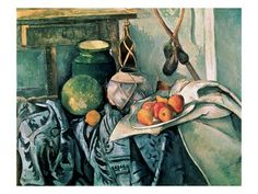 Still Life with Pitcher and Eggplant Giclée-tryk af Paul Cézanne