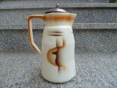 Kakaokanne  Art Deco  Spritzdekor  Kanne