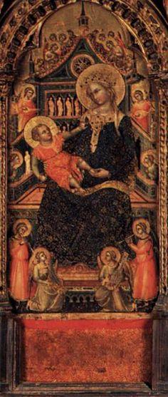 Lorenzo Veneziano ~ Polyptich of Santa Maria della Celestia (detail) ~ 1351-1400 ~ Italian Gothic