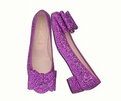 Magenta magic, ballet-bow pumps by Pretty Ballerinas