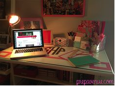 I have a white desk....why haven't I thought about monogramming it? I really do have a problem y'all! lol!