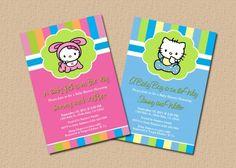 Hello Kitty Baby Shower Invitations | angeliqueannscreations - Digital Art  on ArtFire