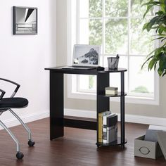 Mainstays Computer Desk with Built-in Shelves, Multiple Colors Low Shelves, Built In Shelves, Large Computer Desk, Desk Legs, Desk Supplies, Home Office, Office Decor, Decor Styles, Living Spaces