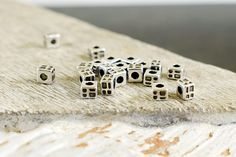 Tube Beads 3x4mm, Antique Silver Metal Beads, Spacer beads, Square Beads, Jewelry Supplies, Antique Silver Beads, 10 pcs