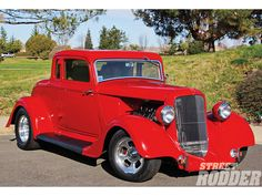 1934 plymouth coupe | 1934 Plymouth Coupe (Canada's Poppy Red)