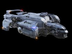 Sci-fi concept space ship- Starfarer Exterior Front v034 launcher.jpg…