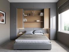 Bedroom Storage For Small Rooms - Unity Fashion Small Bedroom Storage, Small Master Bedroom, Small Bedroom Designs, Small Room Design, Bed Design, Small Bedroom Wardrobe, Small Modern Bedroom, Small Bedroom Ideas For Couples, Small Bedroom Interior