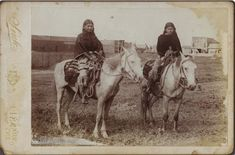 Comanche Indian girls on a horse taken in 1900
