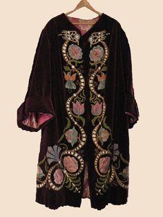 1920's velvet opera coat