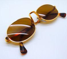 6386108058b Alain Mikli Paris Gold Oval Style Designer Classic Vintage Sunglasses