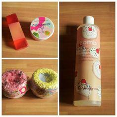 Bombas,gel de ducha,jabón natural de Spcorazon para un baño relajante .