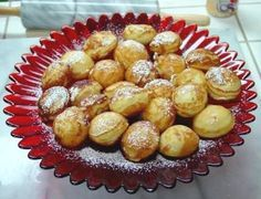 Æbleskiver,  A traditional Danish dessert served especially during the Christmas holiday...
